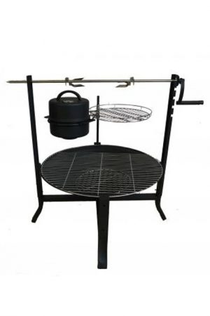 Buffalo Large Fire Pit Rotisserie Bundle