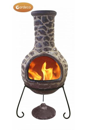 Cantera Mexican Chimenea Brown