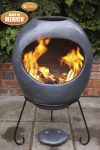 Charcoal Extra-Large Ellipse Mexican Chimenea