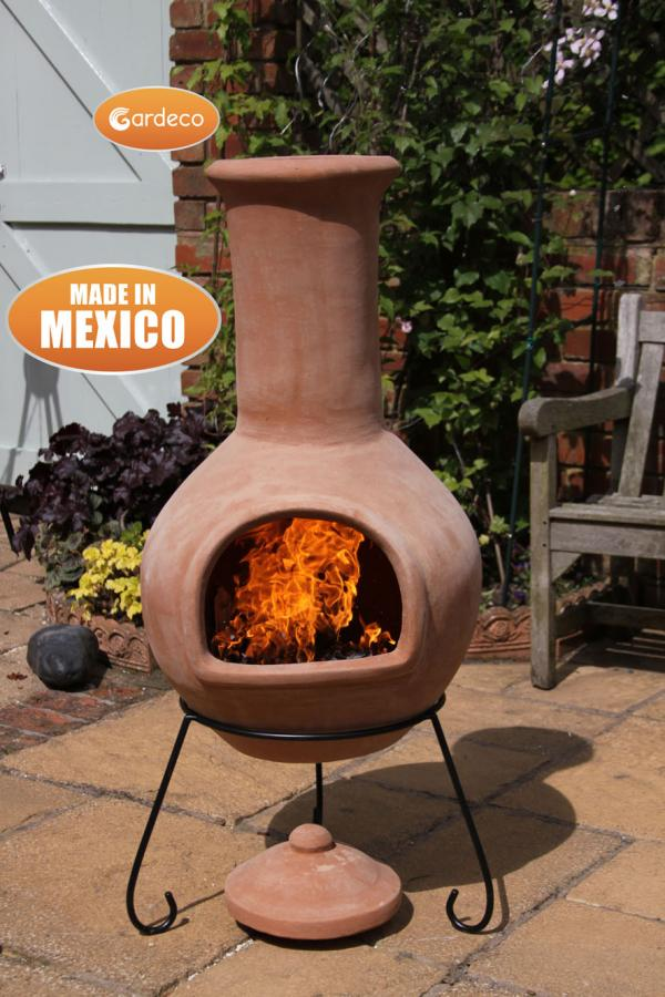 Colima Extra-Large Natural Terracotta Chimenea