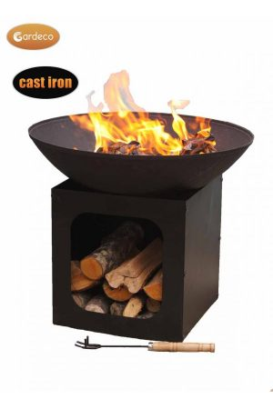 Isla Large Cast Iron Fire Bowl