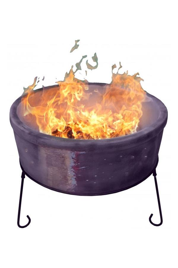 Jumbo Atlas Clay Fire Bowl Glazed Purple