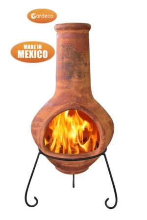 Jumbo Brown Mexican Chimenea Tibor