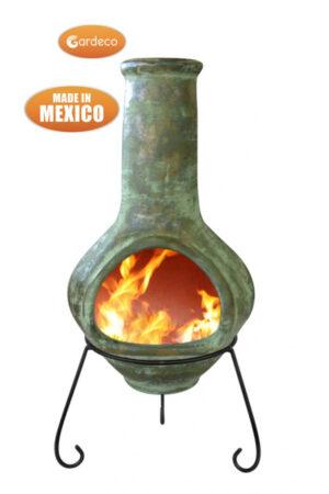 Jumbo Tibor Green Mexican Chimenea