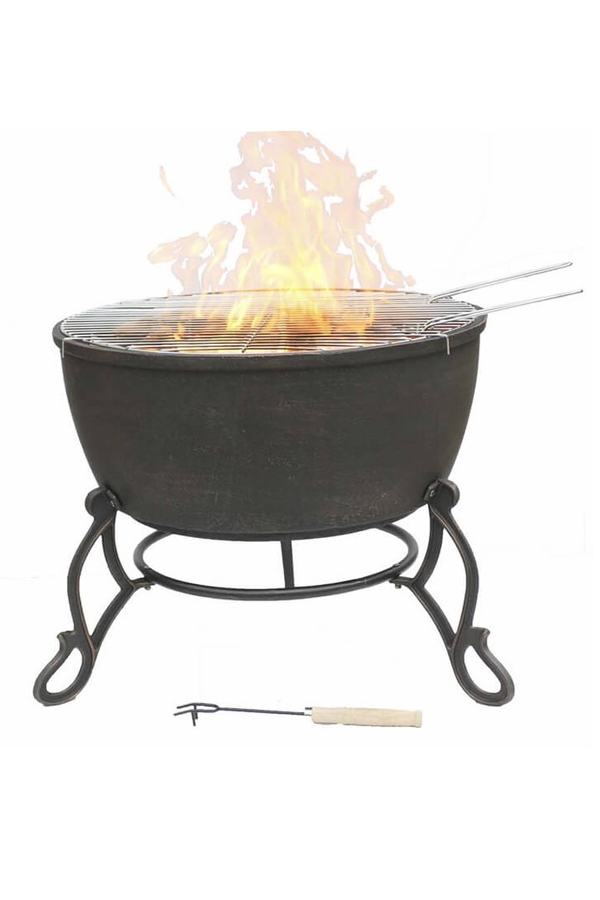 Meridir Extra Large Cast Iron Fire Bowl
