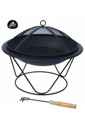 Quasar Medium Black Steel Firepit