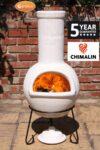 Sempra Large Chimalin AFC Natural Pale Clay Chimenea