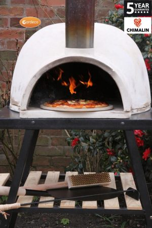 -PIZZARO traditional pizza oven made of CHIMALIN AFC, inc funnel (stand sold separately)