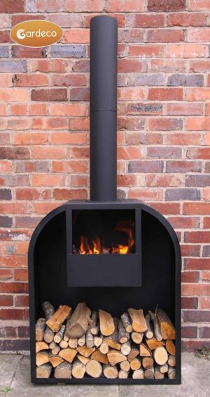 - Arno Log fireplace with rounded shoulders- extra-large 200cm overall height