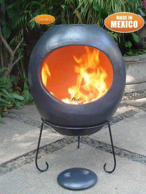 -Extra-Large Ellipse Mex Chim gl. effect charcoal grey