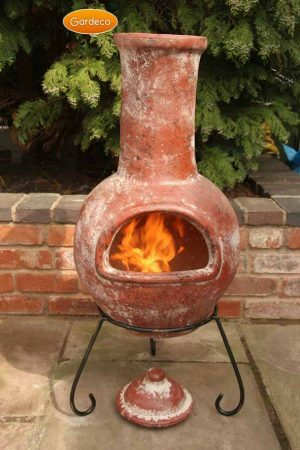 - Large Colima Mexican Chimenea in Red