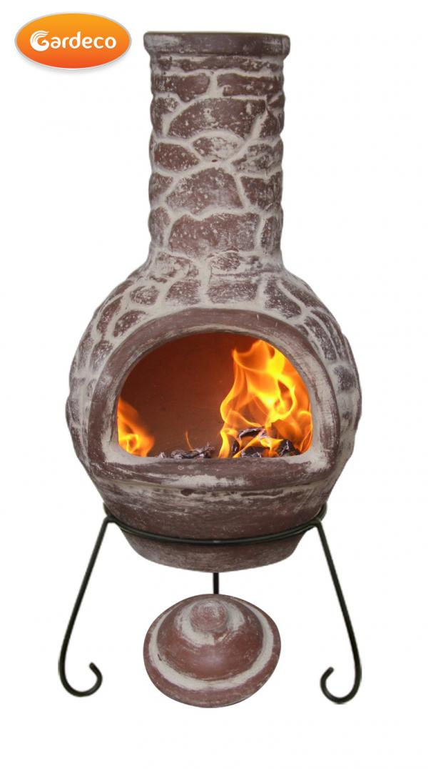 - Large Cantera Mexican Chimenea, Lid & Stand