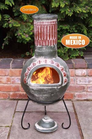 - Large Plumas Mexican Chimenea in Green