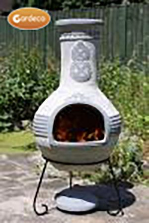-  Azteca XL Mexican Chimenea in Grey