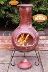 - Extra-Large Colima Mexican Chimenea in Red
