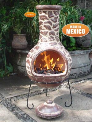 - Extra-Large Cantera Mexican Chimenea in Brown