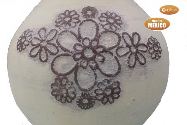 - Extra-Large Flores beige and dark brown