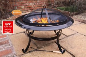 - CASSIO fire bowl in enamel black