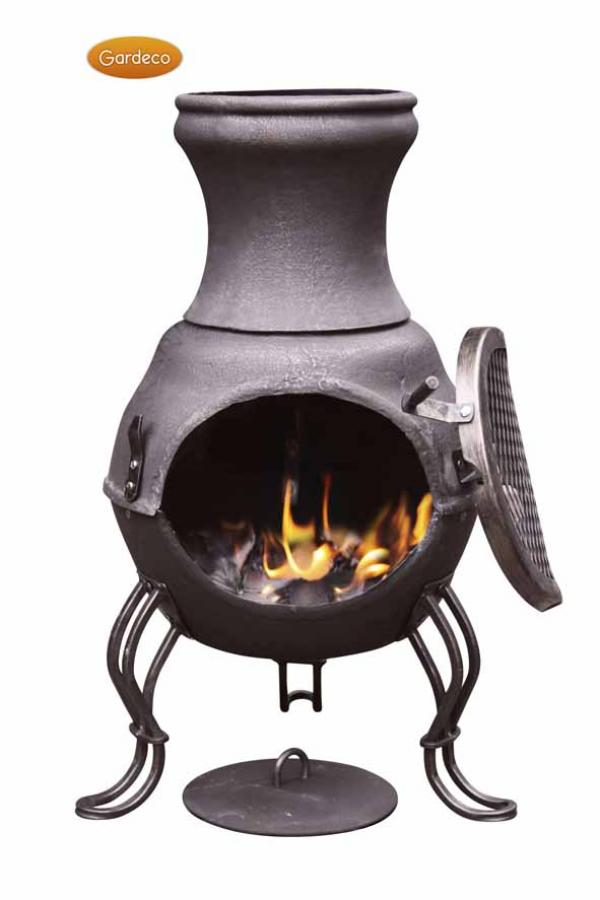 - Billie Small Cast Iron Chimenea, Bronze
