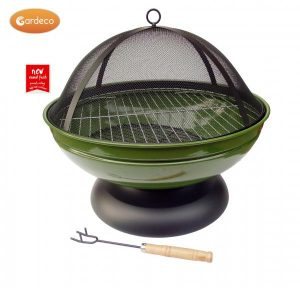 - Confetti fire pit, enamel coated bowl, inc BBQ grill