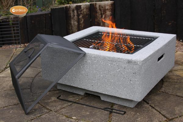 - MGO Cubo square garden fire pit