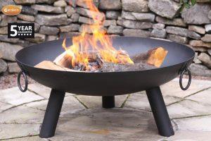 - Steel fire pit,80cm Dia x 34cm H
