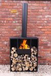 - Eeron Log fireplace- rectangular- extra-large 200cm overall height