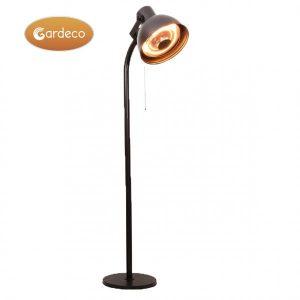 -Pedestal stand for patio heater,Black,Size:50cm dia x 220cm H,Brown box