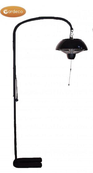 -Pedestal stand for patio heater,Black,Size:77cm L x 21cm W x 198cm H,Brown box
