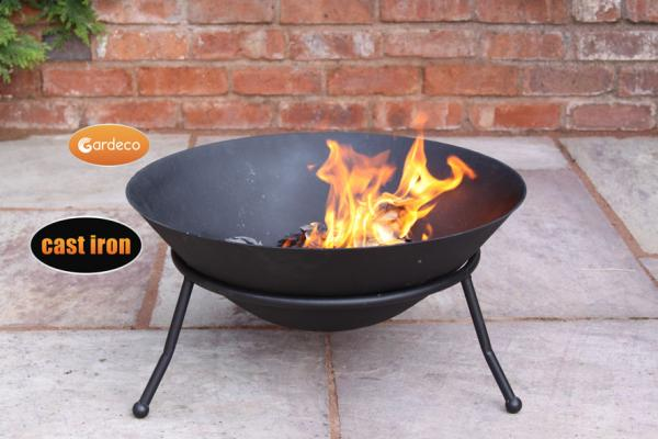 -Cast iron fire bowl 60cm dia
