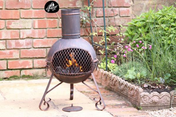 -Lexie Small Steel Chimenea 70cm high
