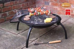 - Lucio fire bowl in MAIL ORDER colour carton with new rotisserie accessory