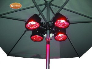 - Electric Parasol Heater,1500W,60cm x 60cm x 20cm