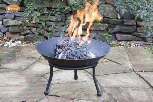 -Small cast iron fire bowl