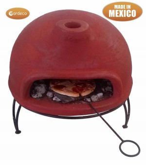 -Table top Mexican pizza oven with metal stand