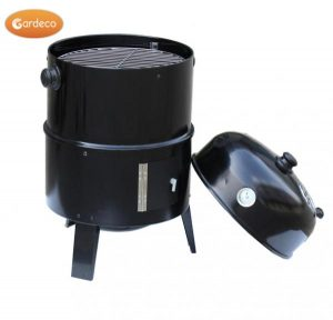 -Stacker Food Smoker, self-standing, several trays, fire in base