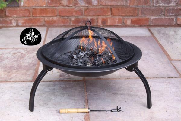 - Solo medium steel fire pit 56cm dia