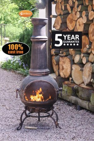 - Toledo Cast Iron Chimenea Jumbo size in bronze