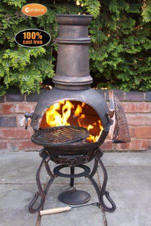- Toledo cast iron chimenea medium in bronze, MAIL ORDER carton
