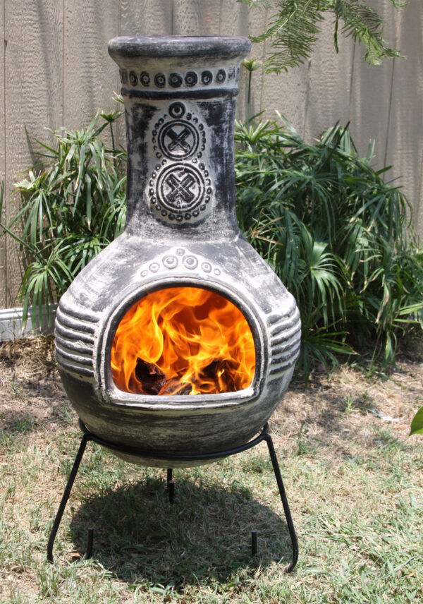 Azteca Extra-Large Rustic Anthracite Mexican Chimenea