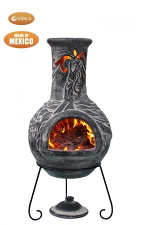 Celtic Extra Large Charcoal Colour Dragon Mexican Chimenea