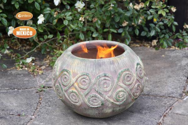 -Medium AESTREL fire bowl Celtic theme inc stand