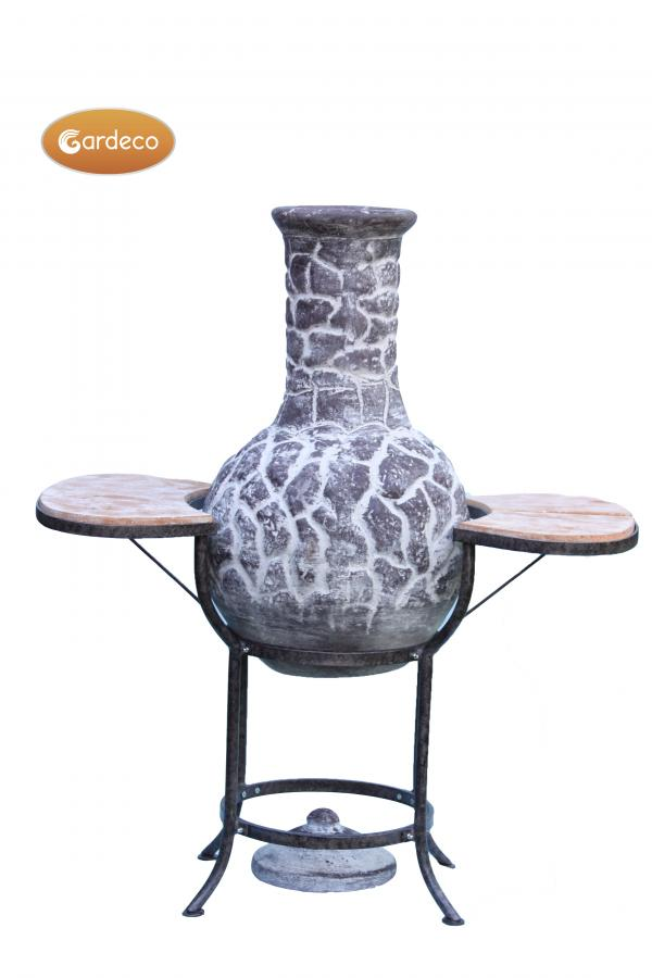 - BBQ bundle pack containing 1 x EL clay chim 1 x cradle 1 x set tiles 1 x BBQ grill  1 bag of lava st