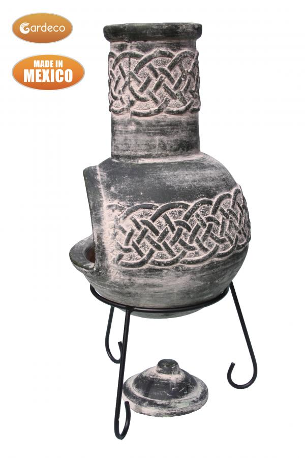 - Edyth Mexican chimenea Celtic theme including stand and lid