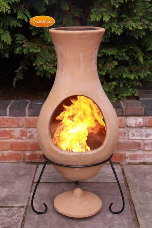 -Large Air Chimenea in Natural Terracotta
