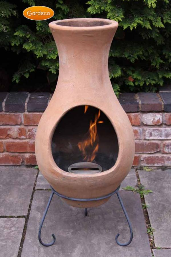 - Large Air Chimenea in Natural Terracotta