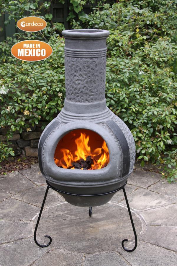 -Linea XL Mexican Chimenea in Grey