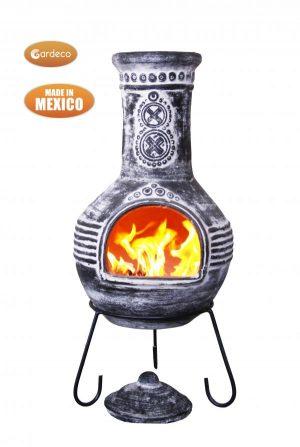 - Azteca XL Mexican Chimenea anthracite rustic