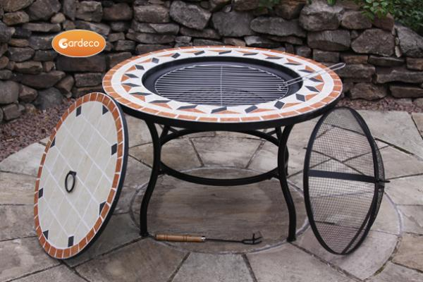 -New Tile Mosaic fire bowl table