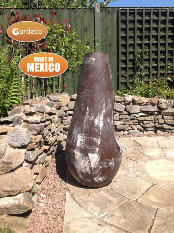 - Gota Chim-Art large,original Mexican chimenea in oxidised brown